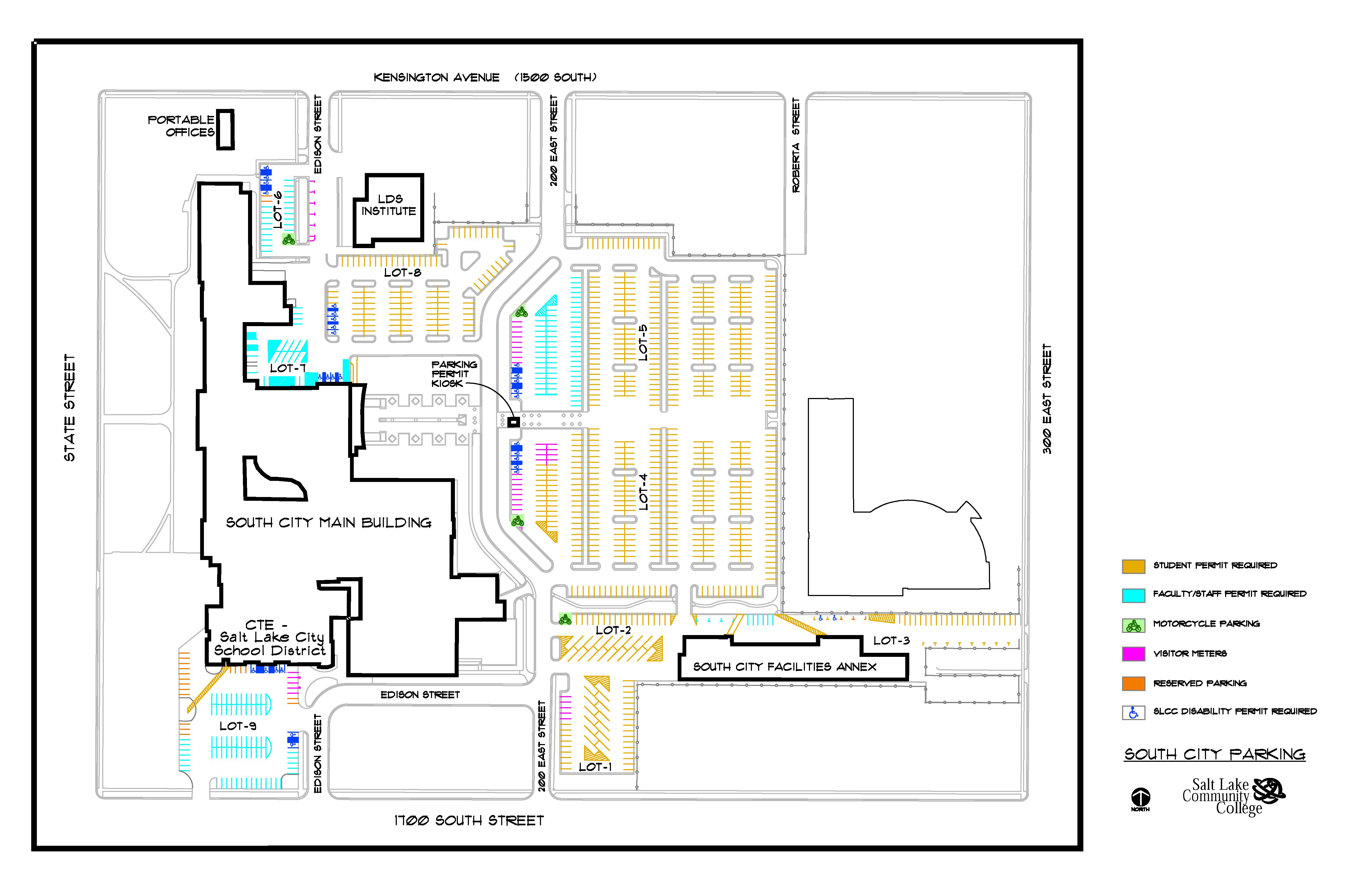 salt lake community college jordan campus map Parking Maps Slcc