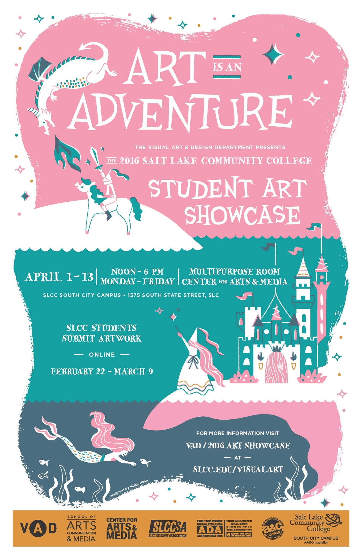 poster student slcc showcase designs winning contest previous winner shows visualart edu